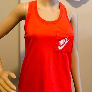 Bright Red Nike Women's Tank Top